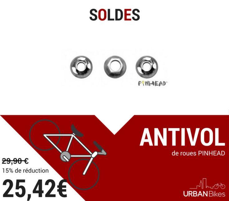 SOLDES : Les antivols de roues PinHead sont en promo sur le site ! #soldes #promo #urbanbikes #bikes #velo #antivol #securite #pinhead