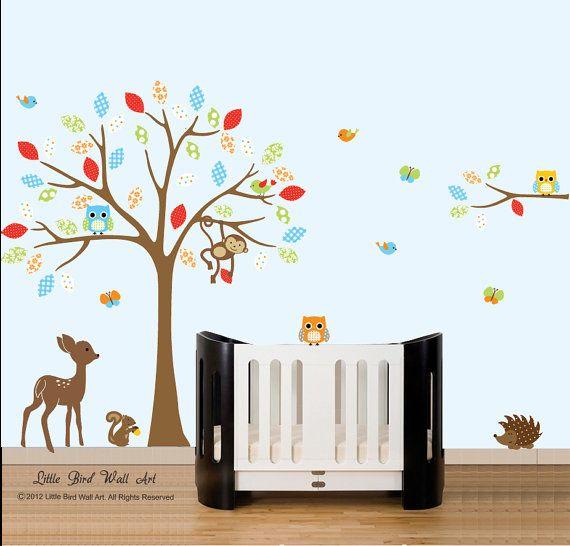 Baby wall decals childrens nursery tree by Littlebirdwalldecals, $129.00