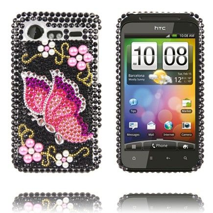 "Paris (Pinkki Perhonen) HTC Incredible S ""Bling-Bling"" Suojakuori"
