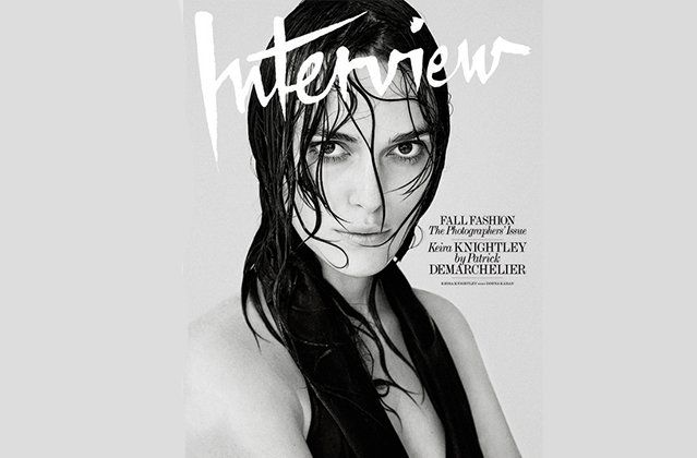 Keira Knightley takes her top off for Interview Magazine