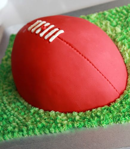 AFL Football Party Birthday Cake - 8 Years Old Sophie's Kitchen Adventures