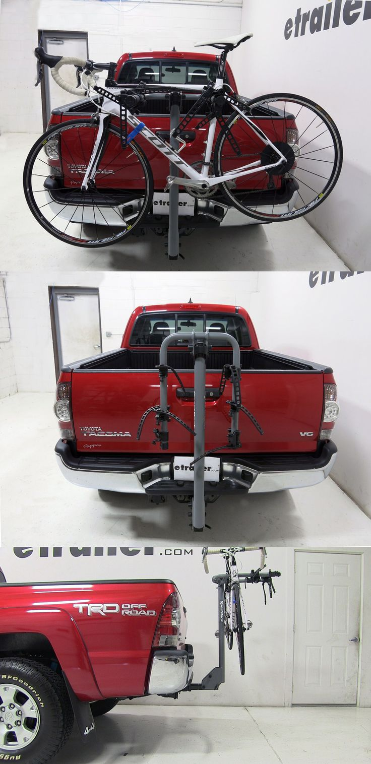 Need to carry some bikes to the cycling destination in the back of your toyota tacoma the sportrack 3 bike rack for and hitches features anti sway cradles