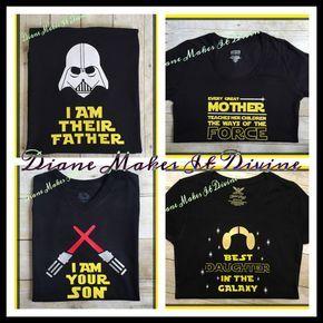 Camisas de familia Star Wars juego de por DianeMakesItDivine