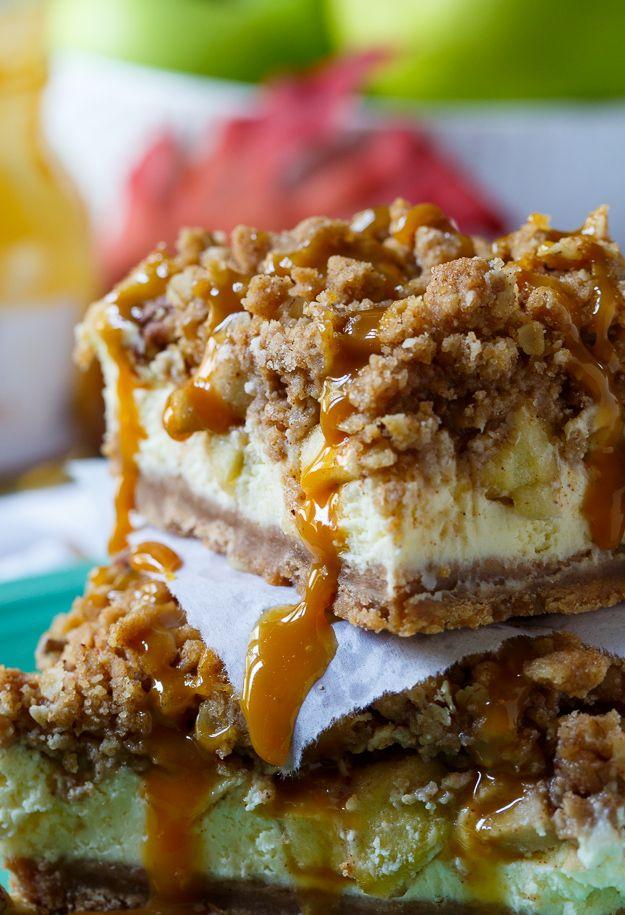 Caramel-Apple Cheesecake Bars