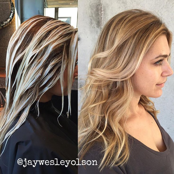"""""""Dry Balayage"""" is the technique used by Jay Olson (@jaywesleyolson), national colorist for L'Oreal Professionnel and owner of The Bespoke Salon in Scottsdale, AZ, to create this stunning result."""