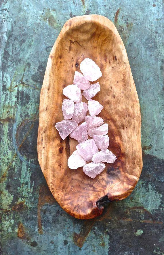 stones  RAW ROSE QUARTZ  5 rose quartz crystals  by CrystalGrids, $19.99