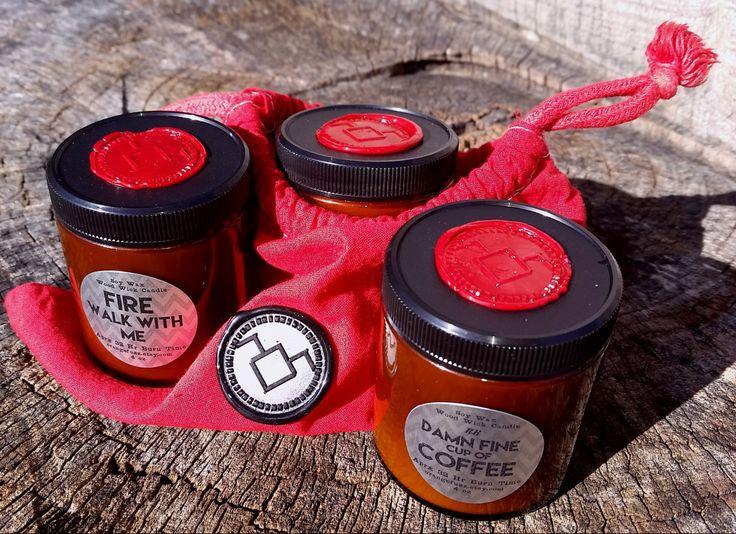 Twin Peaks Candle Gift Set by orangefuzz on Etsy https://www.etsy.com/uk/listing/229567297/twin-peaks-candle-gift-set