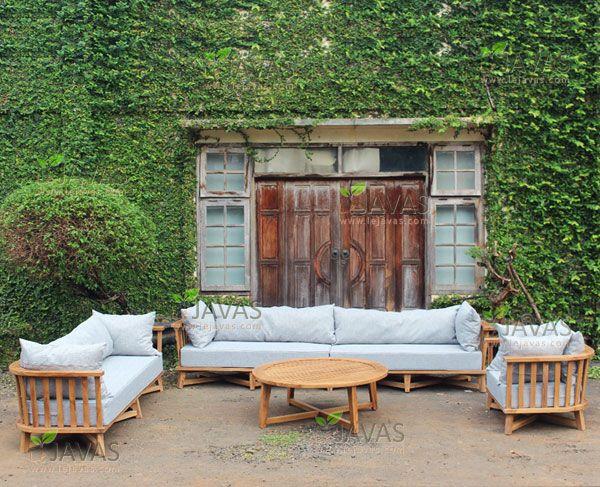 Le Javas Teak Garden Furniture Teak Indoor Furniture Teak Outdoor Furniture In 2020 Patio Sofa Set Garden Sofa Set Garden Furniture Uk