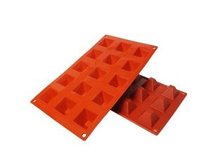 Silicone Baking Molds, Pyramid Silicone Baking Mold .7 oz