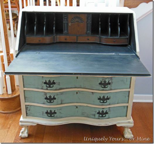 Vintage Claw Foot Drop Front Secretary Desk | Uniquely Yours... or Mine!