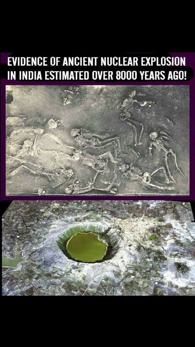 Ancient mystery evidence of ancient nuclear explosion in India estimated over 8000 years ago