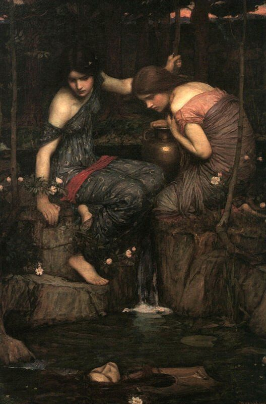 John William Waterhouse - Nymphs Finding the Head of Orpheus, 1900