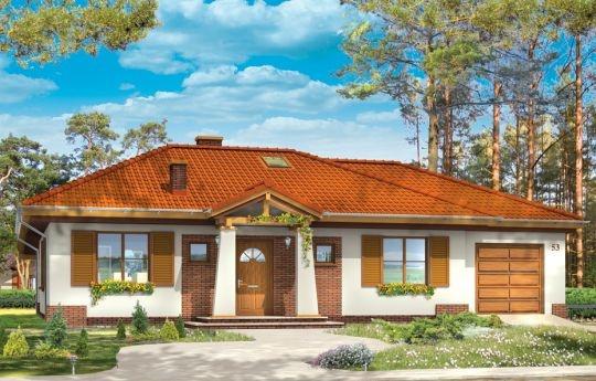 Projekt domu Cztery Kąty 2 jest wariantem projektu Cztery Kąty - tym razem z pojedynczym garażem. Propozycja domu dla mniej zmotoryzowanych, ale przede wszystkim dla inwestorów mających węższą działkę, przez co mniej miejsca na sam dom. Część mieszkalna jest identyczna jak w podstawowym projekcie, jedynie garaż uległ zmniejszeniu.