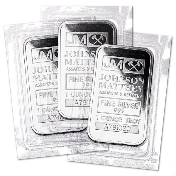 Get The No Longer Minted Johnson Matthey 1 Oz Silver Bars Quantities Of 1 99 Available For Only 2 15 Over Spot Eac With Images Silver Bars Silver Rare Coins Worth Money