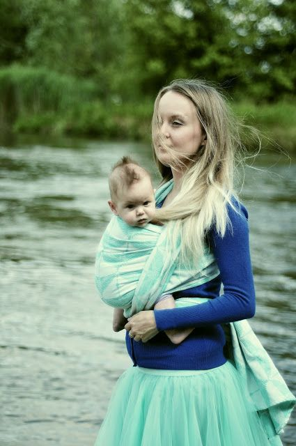 life style and babywearing: Ehawee Slings Cranes mint REVIEW