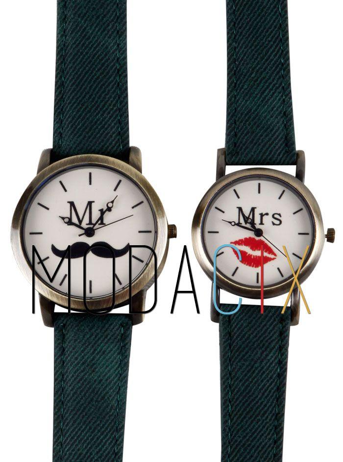 Mr and Mrs Yeşil Sevgili Saatleri MC10280914308