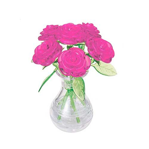 Crystal Puzzle Six Rose Pink 3D