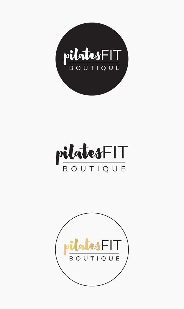 Pilates Fit Logo Design | By www.inkeepress.co.nz #goldfoil