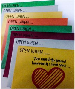 This is a great idea for making a loved one feel special!
