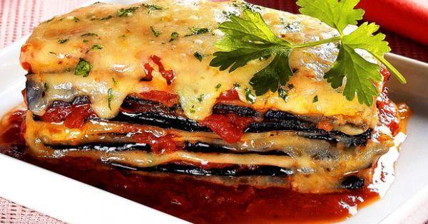 Aprenda a preparar a receita de Lasanha de berinjela napolitana