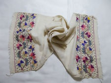 Ottoman turkish embroidery towel with silk threads
