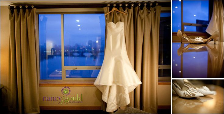 #Boston in the backdrop as one of our beautiful brides gets ready for her #wedding. Our views are perfect for all of your wedding photos.  http://nancygould.com/jessica-jason-royal-sonesta-hotel-cambridge-ma #weddings #Bostonweddings #photography #weddingphotos