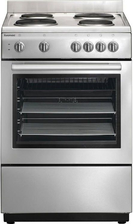 Euromaid - 60cm Electric Freestanding Cooker & Solid Cooktop, Stainless Steel | Electric Uprights | Uprights | Ovens, Cooktops & Rangehoods - Buy Appliances Online at 2nds World