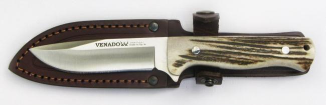 Bowie SRL Venado - Línea Lauquen Características:  Acero AN-58 inox  Funda de cuero #BowieSRL #Venado #Cuchillos