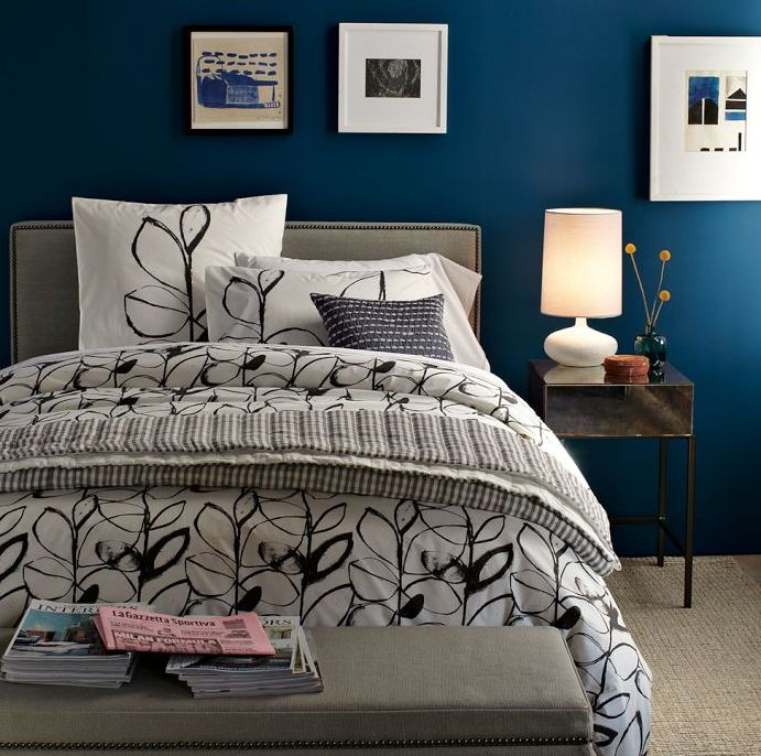 20 marvelous navy blue bedroom ideas i lettori di for Bedroom ideas dark blue