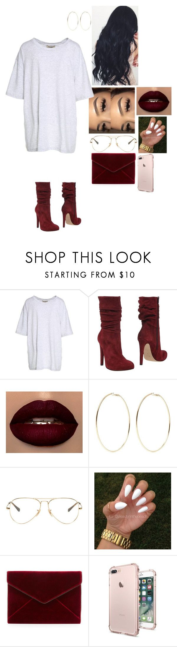 """""""Untitled #1072"""" by medinea ❤ liked on Polyvore featuring Yeezy by Kanye West, Jolie By Edward Spiers, Kenneth Jay Lane, Ray-Ban and Rebecca Minkoff"""