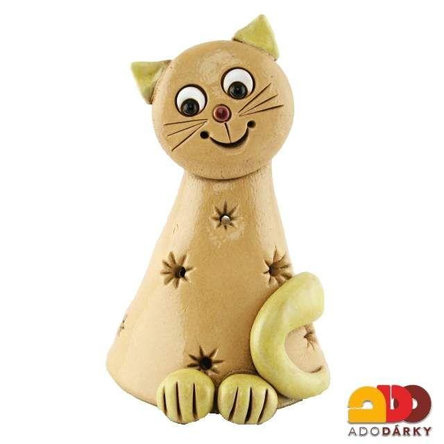 Kočka stinítko na svíčku 14 cm