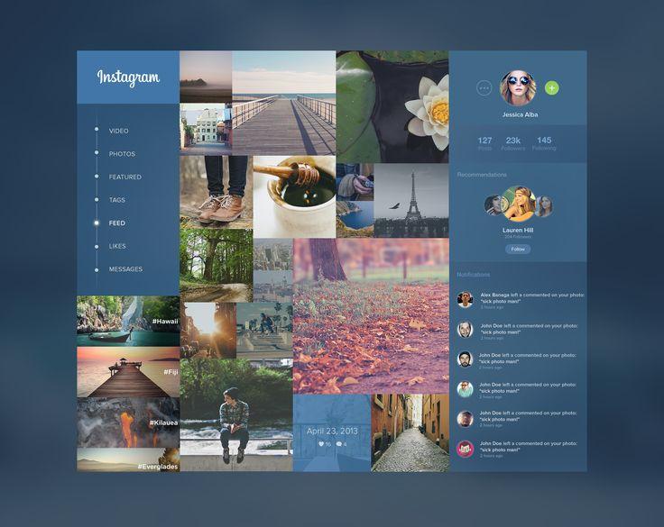Instagram Redesign   UI Design) Layout - Concept