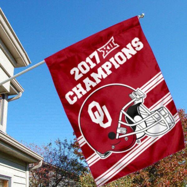 Oklahoma Sooners 2017 Big 12 Football Champions House Flag