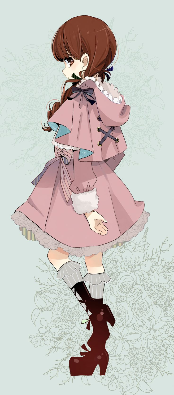 Cute! I love the hair and the clothes.