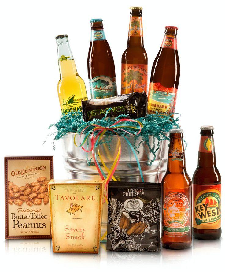 Beach Beer Gift Basket