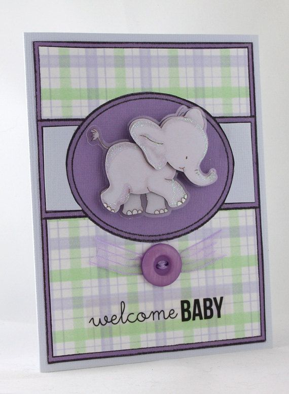 New Baby Handmade Card / Welcome Baby Card / by CardsbyGayelynn