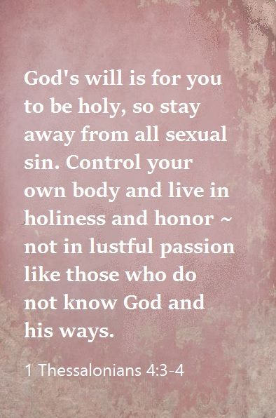 1 Thessalonians 4:3-4