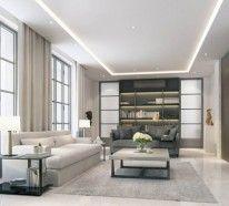 Abgehängte Decke Wohnzimmer | Industrielampe Im Wohnzimmer Ziegelwand Und Fellteppich