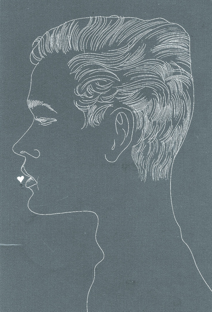 Andy Warhol | Unidentified Male with Heart at Lips, c. 1957