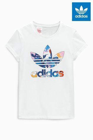 Buy adidas Originals White Trefoil T-Shirt from Next Australia