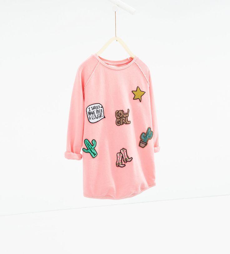 Robe à pièces - SWEAT - SHIRTS - FILLES | 4 - 14ans - ENFANTS | ZARA France