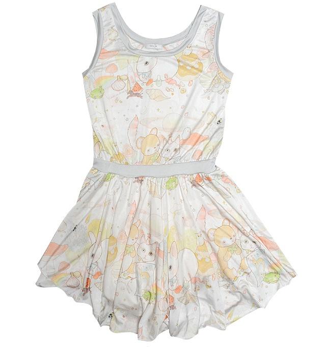 Adorable new collaboration between Australian illustrator Lilly Piri and Japanese brand Milk #fashion #clothing #kawaii