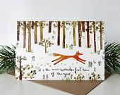 Wonderful Time Fox Christmas Card by Stephanie Cole Design