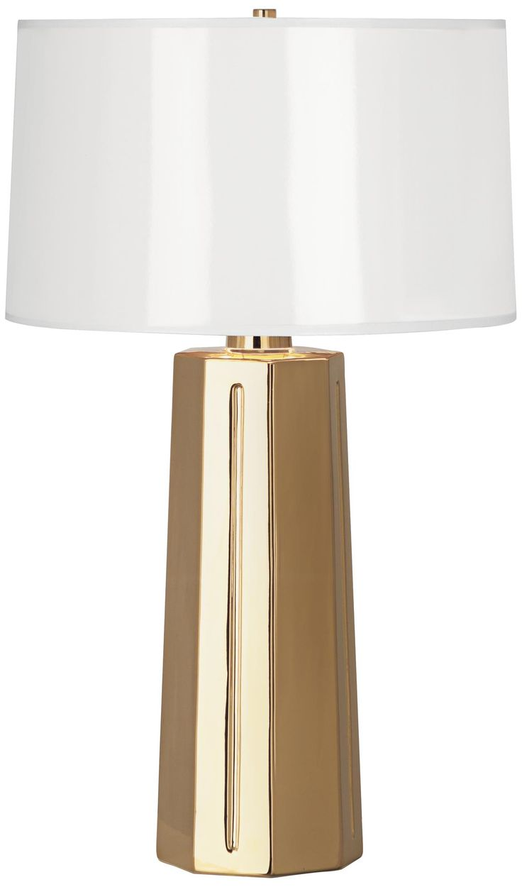 Robert Abbey Mason Gold Metallic Glaze Ceramic Table Lamp