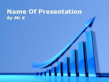 Graphical Chart Business Growth Powerpoint Presentation Template
