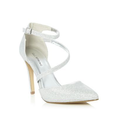 Call It Spring Silver 'Bossier' high court shoes- at Debenhams.ie