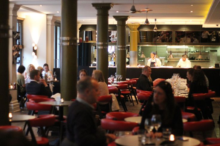 Eastway Brasserie, Andaz Hotel, Liverpool Street, London.  Kai Kristiansen chairs specified and supplied by Republic of Living