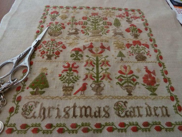 27 best cross stitch images on pinterest cross stitching for Christmas garden blackbird designs