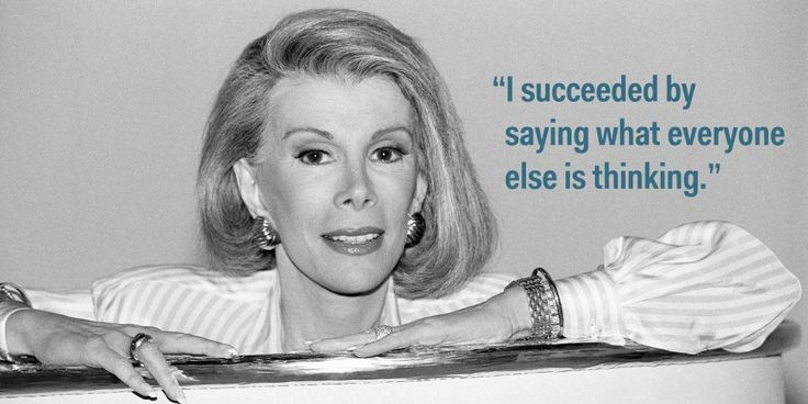 joan rivers quotes | Joan Rivers Quotes On Success - Business Insider