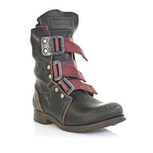 Womens Fly London Stif Black Leather Distressed Flat Casual Ankle Boot Size 3 8   eBay 206$
